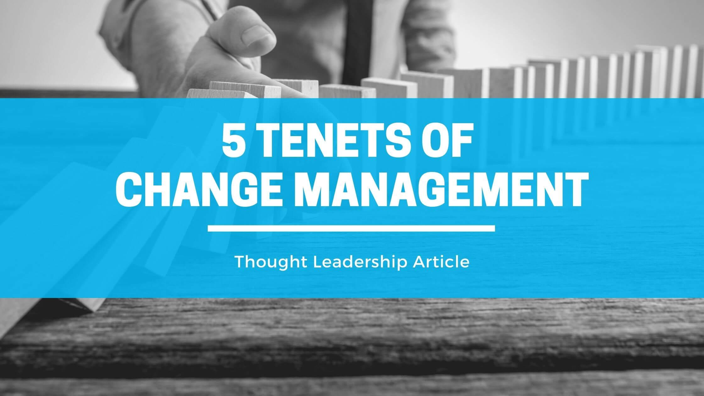 Principles of change management