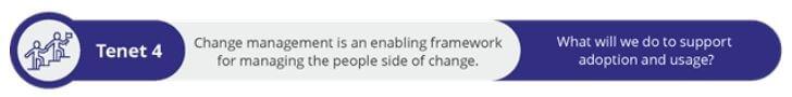 Fourth tenet of change management
